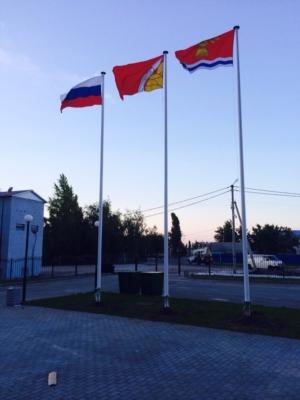флаги в Павловске