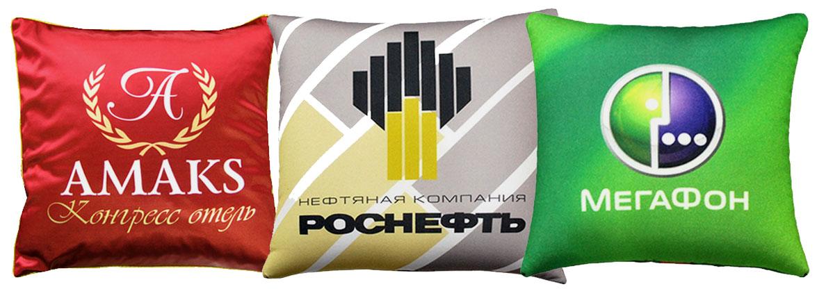 подушки с логотипом воронеж